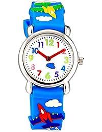 Arroyo Waterproof 3D Cute Cartoon Digital Silicone Wristwatches Time Teacher Gift For Little Girls Boys Kids Children... - B07GDCYY3X