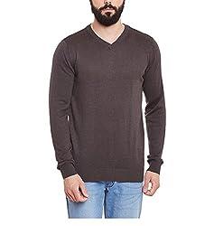 Yepme Mens Grey Cotton Sweaters - YPMSWEATER5068_M