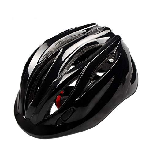 LHY SPORTS SERLES Kinder Sicherer Fahrradhelm, Jugend Mountain Inliner Skateboard Schutzhelm Rollschuhlaufen Farbiger Helm,Schutzhelm für Männer und Frauen,Black