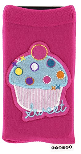 Trendy Universal Smartphone Socke Handysocke für iPhone, iPad und MP3 - Cupcake