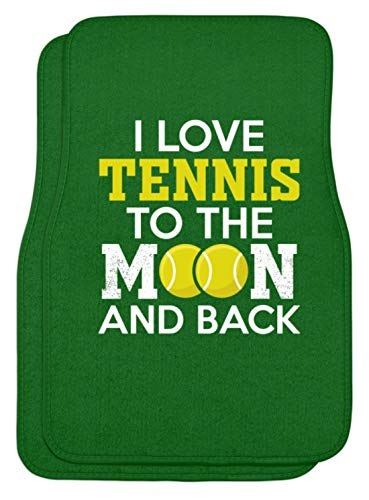 Schuhboutique Doris Finke UG (haftungsbeschränkt) I love tennis to the moon and back - Automatten -44x63cm-Kelly Green