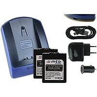 Invero/® CGR-S006E CGR-S006 S006E S006 Kamera Akku Ladeger/ät mit KFZ-Ladekabel f/ür Panasonic Lumix DMC-FZ18 DMC-FZ28 DMC-FZ30 DMC-FZ35 DMC-FZ38 DMC-FZ50 DMC-FZ7 DMC-FZ8