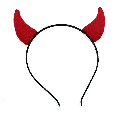 ner Haarreif - Devil Hölle - Damen - Karneval Fasching Halloween - rot/schwarz (Rotes Haar Mädchen Halloween Kostüme)