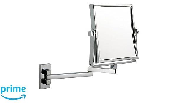 Specchio quadrato estensibile per barbieri trucco cromo amazon