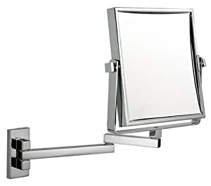 extending bathroom mirror luxury square extending makeup mirror chrome 12808