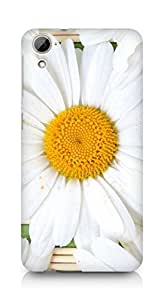 Amez designer printed 3d premium high quality back case cover for HTC Desrie 826 (White Flower)
