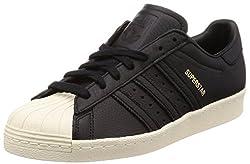 adidas Herren Superstar 80s Fitnessschuhe, Schwarz (Negbas/Verde/Rojsld 000), 48 2/3 EU