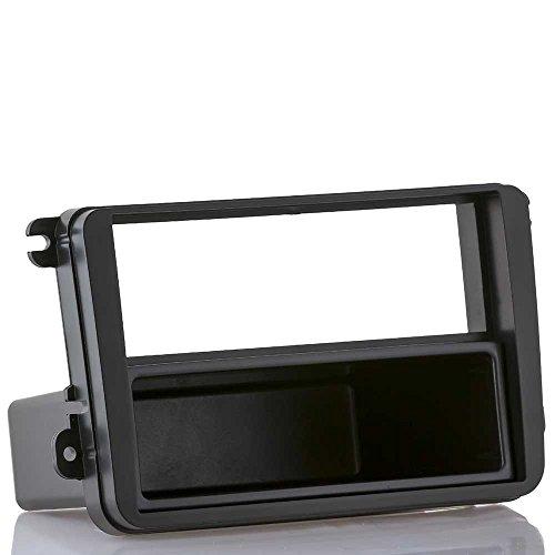 Radioblende passend für VW Golf 5 6 Passat EOS + SKODA + SEAT (Radioblende inkl. Ablagefach (ca. 10cm tief) )