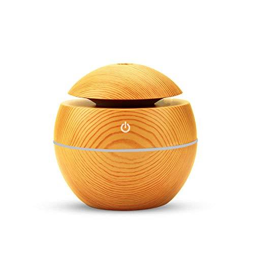 VGFTP Aroma Olio essenziale Diffuso, Umidificatore ad ultrasuoni Mini purificatore d'aria 7 Cambio colore LED Luce notturna Auto-Off senza acqua per casa 130m