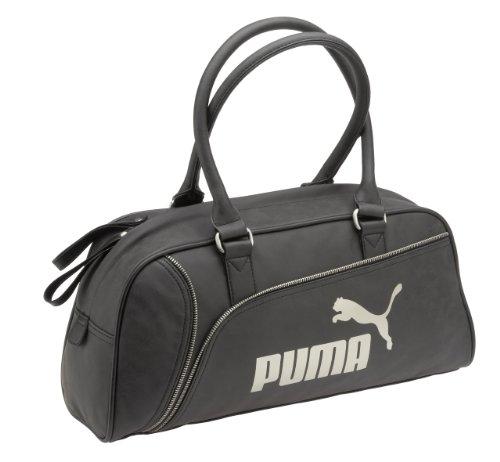Puma Sac à main Fame, noir/or, 44x 21x 13cm