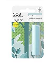 eos Organic Stick Sweet Mint Lip Balm, natürliche Lippenpflege, Beauty-Pflege für softe Lippen, erfrischender Lip Stick, Naturkosmetik, 1 x 4 g