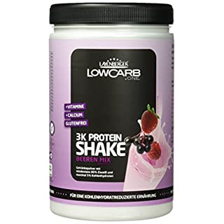Layenberger LowCarb.one 3K Protein-Shake Beeren Mix, 1er Pack (1 x 360 g)