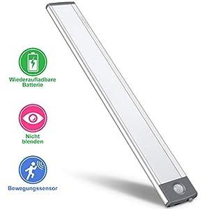 LED Bewegungsmelder Schrankleuchten,USB Wiederaufladbar Batterie Nachtlicht Schranklicht, Kleiderschrank Lampen…