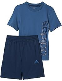 16d453496eed adidas LK Lin Sum Set Set di Maglia con Pantaloni Corti, Bambino, Bambino,