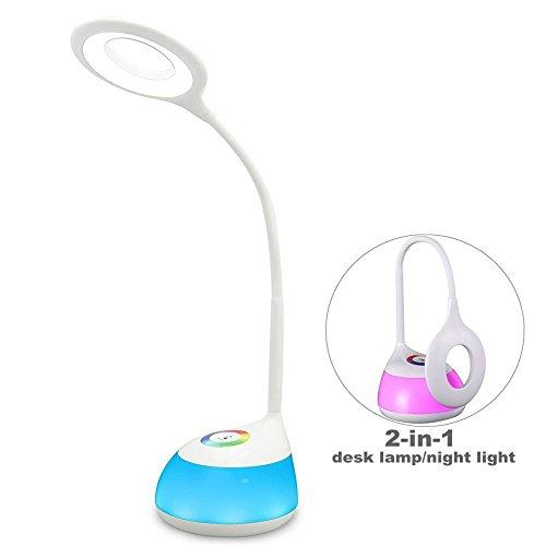 HEIMDALL lampada scrivania lampada occhio protezione LED con 3 livelli di luce di notte di multi-colore di illuminazione regolabile