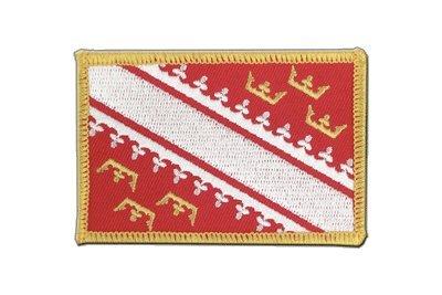 Frankreich Elsass Aufnäher, elsässische Flagge 6x8cm, MaxFlags®
