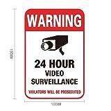 LELTWS Etiqueta de la Pared 1 Pc Etiqueta de Advertencia de la cámara Etiqueta de la cámara Señal de Advertencia y señal de Seguridad Inicio CCTV Video Vigilancia Etiqueta de la cámara de Seguridad