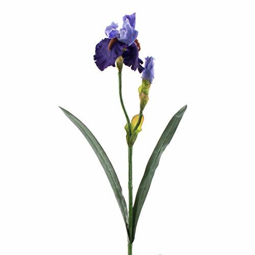 artplants Künstliche Iris, blau, Deluxe, 70 cm – Kunstblume