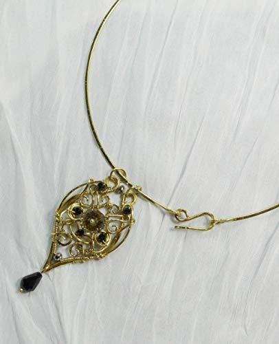 sconto 22% Collana Art Nouveau Ottone con cerchio