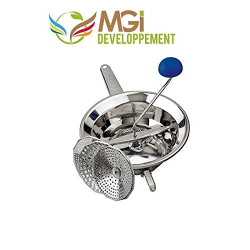 MGI DEVELOPPEMENT moulin à légumes Professionnel et Ses 3 grilles en INOX Made in Italy, Haut de Gamme 24 cm diam.