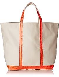 Vanessa Bruno 346 - Bolso de tela para mujer blanco Blanc (Blanc/Orange Fluo) 18x50x34 cm (W x H x L)