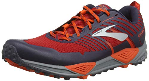 Brooks Cascadia 13, Zapatillas de Cross para Hombre, Rojo Red/Orange/Grey 636, 42.5 EU