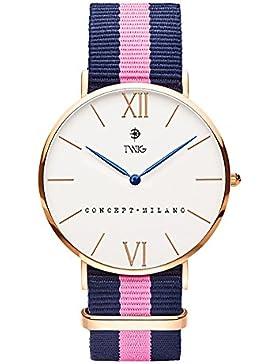 Armbanduhr TWIG Haring Rotgold/Wei§ Navy-Rosa Jahrgang Klassisch