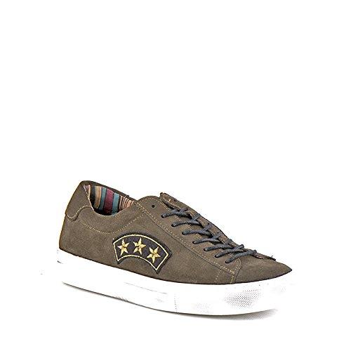 Felmini - Scarpe Donna - Innamorarsi com Fame A290 - Sneakers Militare - Pelle Genuina - Verde - 41 EU Size