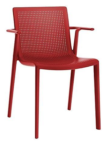Resol fauteuil Beekat - couleur rouge, set de 2 unités