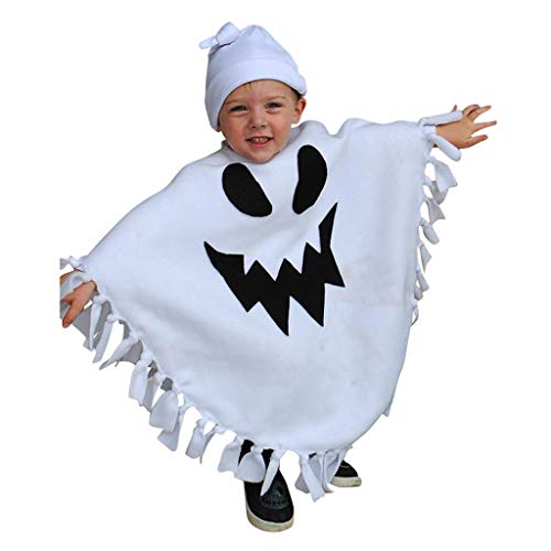 Up Kind Kostüm Light Hexe - Mitlfuny Halloween coustems Kürbis Hexe Cosplay Gast Ghost Schicke Party Halloween deko,Kleinkind Kinder Baby Mädchen Jungen 3D Vivid Halloween Quaste Mantel + Hut Outfit