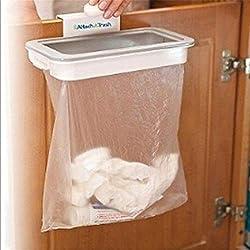 Uteruik Portable Sac Poubelle Support pour Porte de Placard de Cuisine à Suspendre à Dos Support Style Trash Garbage Sacs de Stockage Rack