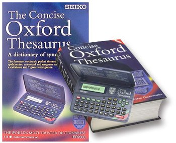 Seiko Concise Oxford Electronic Thesaurus ER2100 (Thesaurus, Spellchecker, Crossword Solver and Anagram