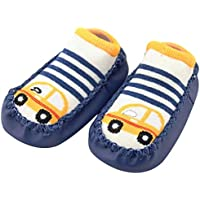 Iuhan Cartoon Anti S Booties Sock Slipper Shoes 18-24Months Dark Blue