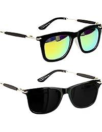 Younky Unisex Combo Pack Of UV Protected Branded Wayfarer Stylish Green Mercury Sunglasses For Men Women Boys...