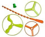 diverse 10 x XL Flugkreisel Propeller Hubschrauber 9,10 & 13 cm Set fliegendes UFO Flieger