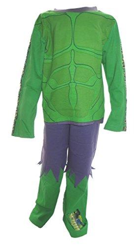 Arme Hulk Kostüm (Der unglaubliche Hulk Pyjamas Jungs im Alter von 5-6)