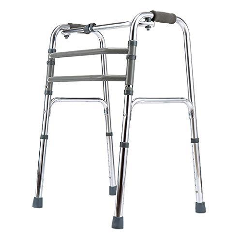 Walker Pieghevole a 8 velocità con Regolazione in Lega di Alluminio Canna da 4 Piedi per Uomo Anziano disabili/interattivo Walk Walk interattivo LI Jing Shop (Colore : #-001)