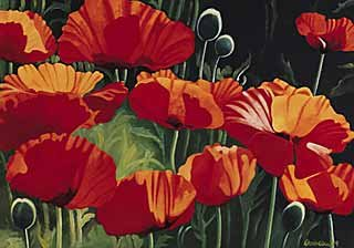 Kunstdruck/Poster: Christian Curious Poppies - hochwertiger Druck, Bild, Kunstposter, 100x70 cm