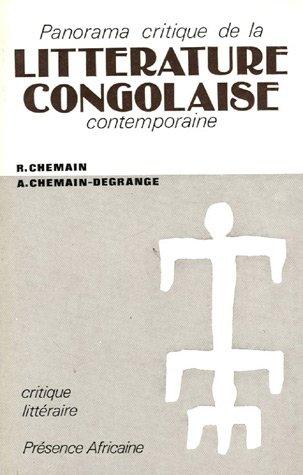 Panorama critique de la littérature congolaise contemporaine
