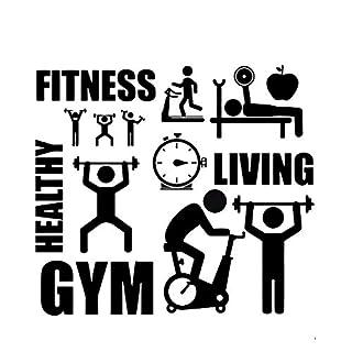 Fitness Healthy GYM Body Shape Wall Sticker