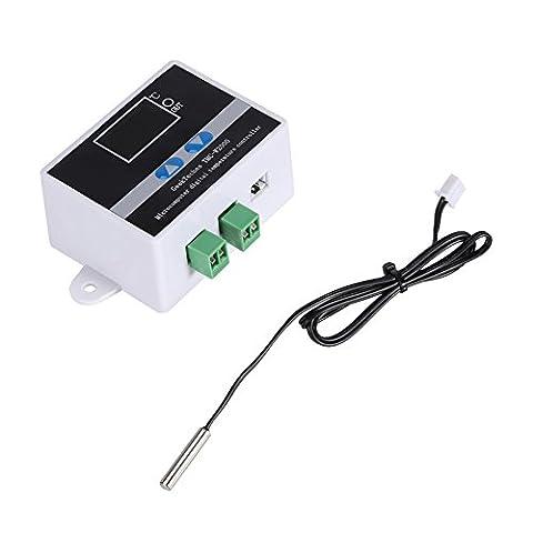 kaersishop AC 110-240V Temperaturregelung Schalter mit Wasserdichter Sensor,Temperatur-Tester