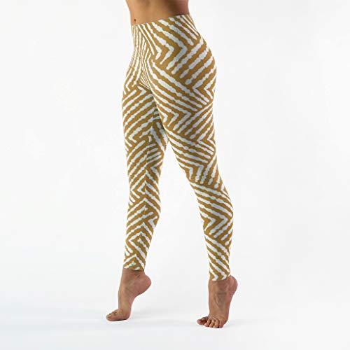 Zhcon Damen Geometrische Figurenmuster Yoga Laufhose Sicher und Bequem Leggings Lang Lauf Sporthosen Muay Thai Fringe White XL Fringe-leggings
