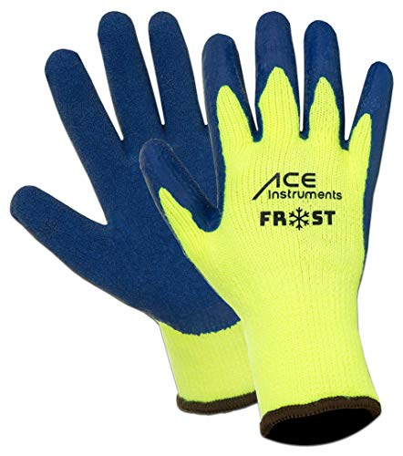 3 Paar ACE Frost Winter-Arbeitshandschuhe - wasserdichte Handschuhe gegen Kälte - EN 388 & EN 511 - Gr 08 (M)