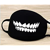 Toyonee - Máscara de Boca de algodón, Antipolvo, Color Negro, diseño de Estrella de Dientes, para niños, Adolescentes, Hombres y Mujeres, Color A, tamaño 1