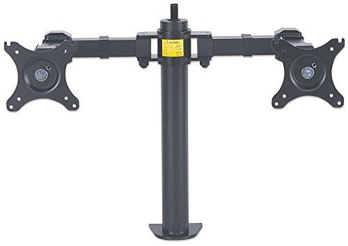 Manhattan 461078 Tischhalterung mit Monitorarm für 2x Displays bis 30 Zoll zweifach schwenkbar schwarz