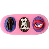 aliciashouse 3d halloween Skull Forma fondente torta stampo in silicone Candy Jelly Chocolate Mold Cake Decorator cottura Strumenti