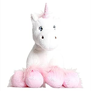 Blanco Unicornio con brillante Pezuñas