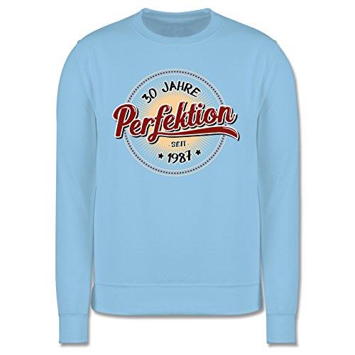 Geburtstag - 30 Jahre Perfektion seit 1987 - Herren Premium Pullover Hellblau