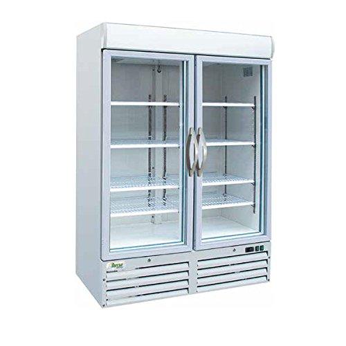 Armario congelador doble puerta cristal 1078LT