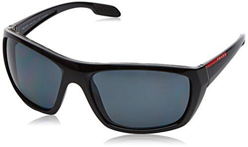 Prada Sport Herren 0PS06SS 1AB5Z1 61 Sonnenbrille, Schwarz (Black/Polargrey),